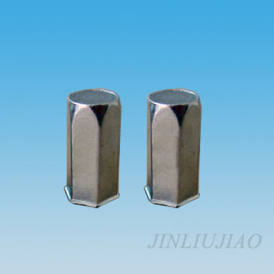 Closed end extra-small head hexagonal body riveting nut
