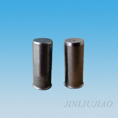 Closed end extra-small head round body riveting nut
