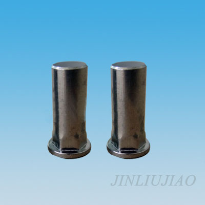 Closed end flat head part hexagonal body riveting nut