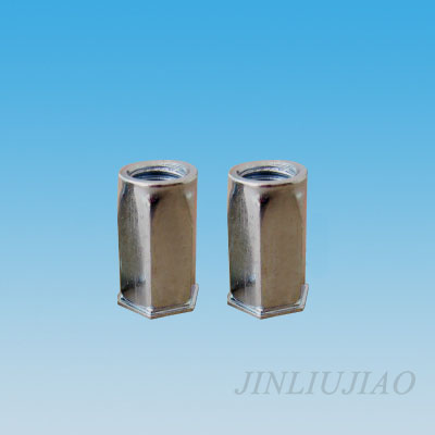 Extra-small head hexagonal body riveting nut