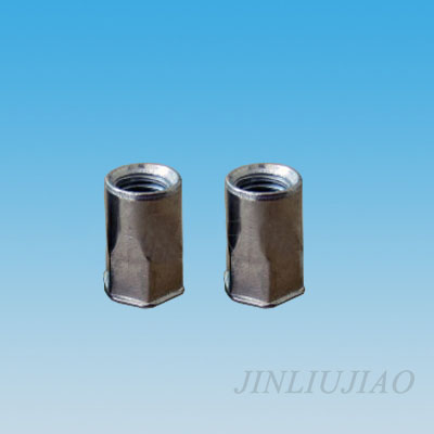 Extra-small head part hexagonal body riveting nut